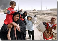 Fleeing families from the US attack on Fallujah